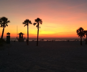florida, sunset, and clearwater beach image