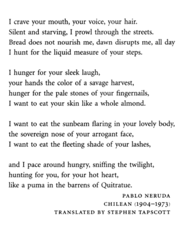 for you, missing, and pablo neruda image