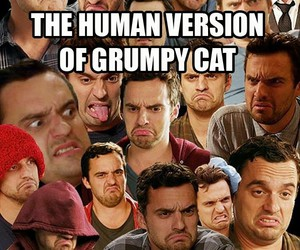 funny, new girl, and jake johnson image