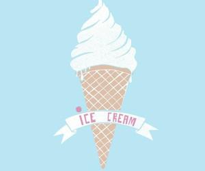 ice cream and blue image