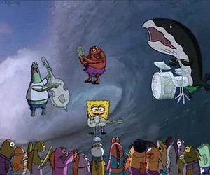 spongebob and band image