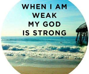 god, strength, and jesus image