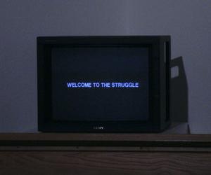 struggle, tv, and grunge image