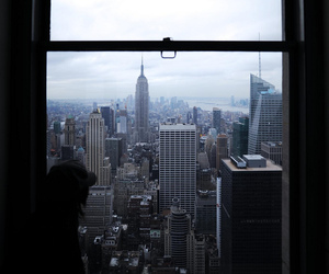 new york, city, and empire state building image