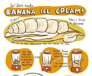 banana, ice cream, and food image