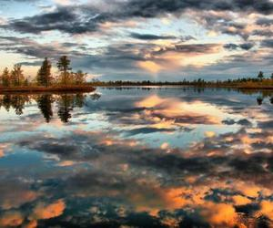 beautiful, clouds, and reflection image