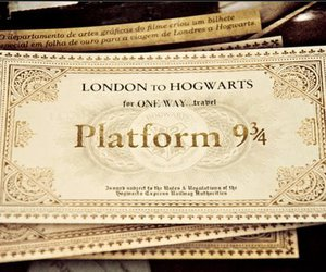 harry potter, hogwarts, and ticket image