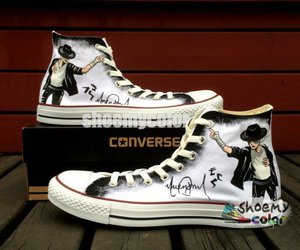 converse, custom shoes, and michael jackson image
