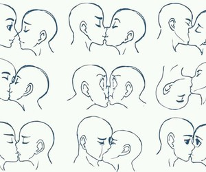 kiss, drawing, and draw image