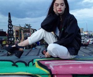 grunge, girl, and model image
