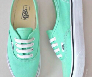 vans, shoes, and green image