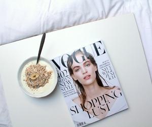 breakfast, food, and magazine image