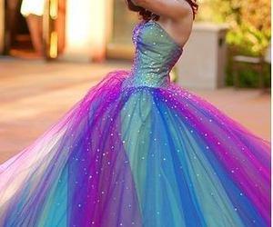 dress, blue, and purple image