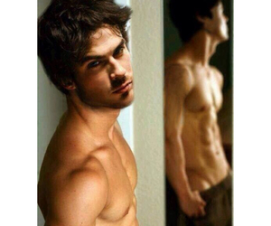 ian somerhalder, the vampire diaries, and delena image