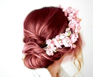 fashion, flower, and hair style image