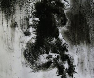 abstract, horse, and black image
