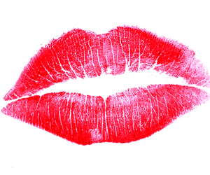 kiss, lips, and red image