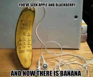 banana, funny, and apple image