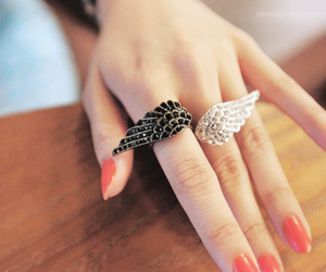 ring, nails, and wings image