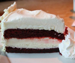 cheese cake, red, and white image