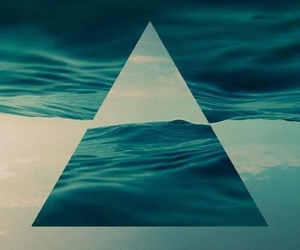 triangle, sea, and water image