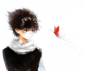 butterfly, yu yu hakusho, and hiei image