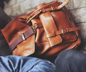 bag, vintage, and brown image