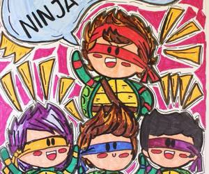 5sos, LUke, and ninja turtles image
