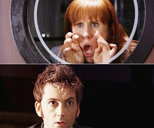 doctor who, david tennant, and donna noble image
