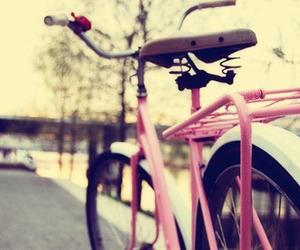 bike, pink, and bicycle image