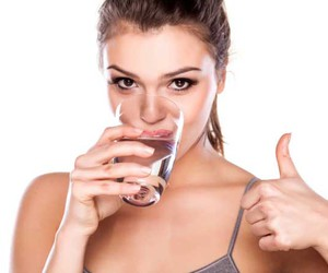 beauty, drinking water, and beauty benefits image