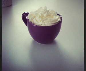 cappuccino, chantilly, and coffee image