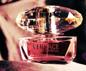 perfume, pink, and Versace image
