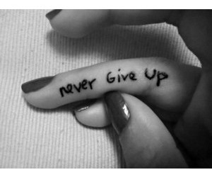 black and white, dark side, and never give up image