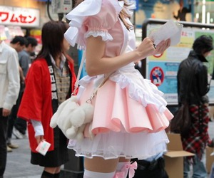 girl, japan, and pink image