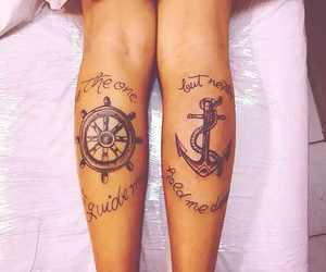 anchor, leme, and tattoo image