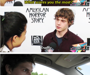 evan peters, funny, and american horror story image
