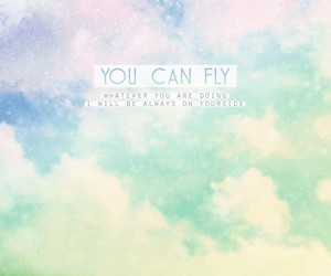 Dream, fly, and quote image