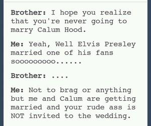 calum hood, brother, and Elvis Presley image