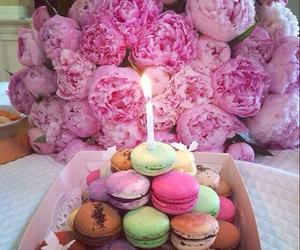 flowers, peonies, and birthday image