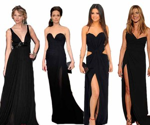 beauty, black, and evening dress image