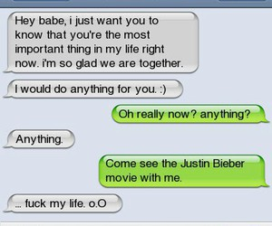 text and justin bieber image