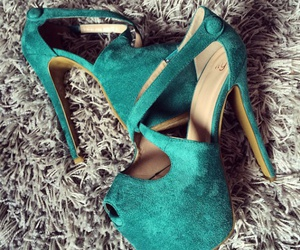 green, shoes, and heels image