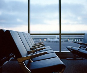 airport, travel, and plane image