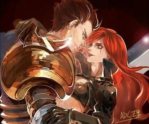 Katarina, garen, and league of legends image