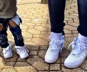 baby, nike, and love image