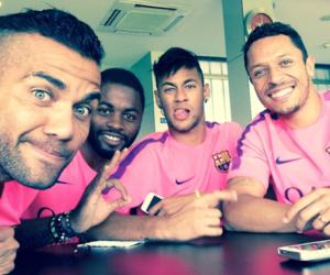 neymar, dani alves, and Barcelona image