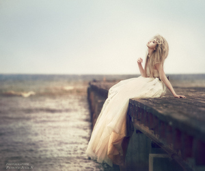 beauty, water, and gown image