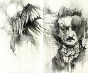drawing, edgar allan poe, and illustration image