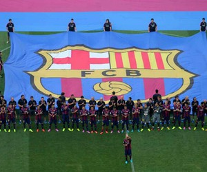 football, soccer, and fc barcelona image